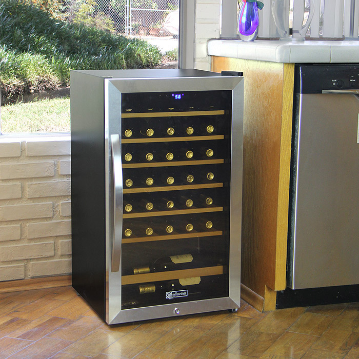 Allavino CWR 34 1SD Cascina Series 34 Bottle Wine Refrigerator